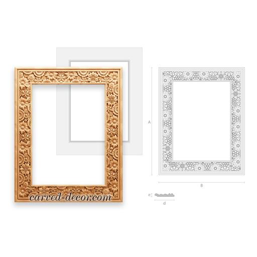 Craftsman carved mirror frame