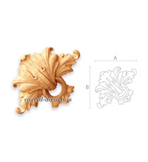 Acanthus ring handcrafted wooden ap...
