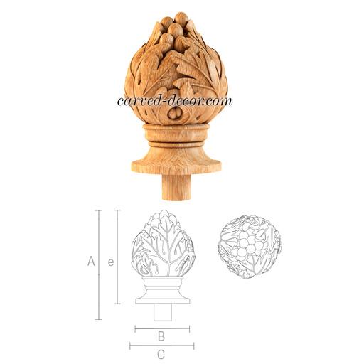 Decorative newel post cap