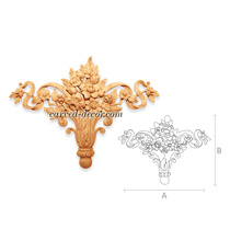Decorative flower bouquet with ribb...