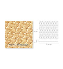 Handcrafted wall textured panel wit...