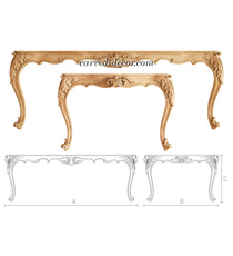 Baroque style carved table frame wi...