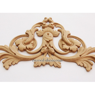 Unfinished appliques and onlays for mantel