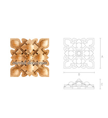 Intricate Gothic style square roset...