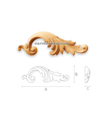 Baroque-style scrolled acanthus app...