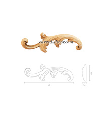 Miniature solid wood acanthus scrol...