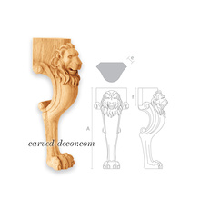 Lion head and paw handcrafted chair...