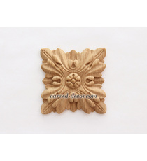 Embossed square rosette onlay with ...