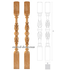 Victorian newel post with acanthus ...