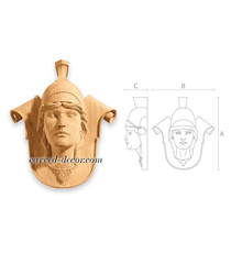Carved Woman sculpture onlay for in...