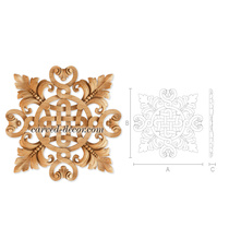 Craftsman wood appliques for kitche...