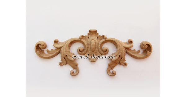 Victorian Scroll Onlay Vintage Wooden, Decorative Appliques For Furniture Nz