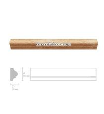Long hardwood moulding, Classic style moulding