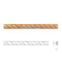 Decorative twisted rope moulding fo...